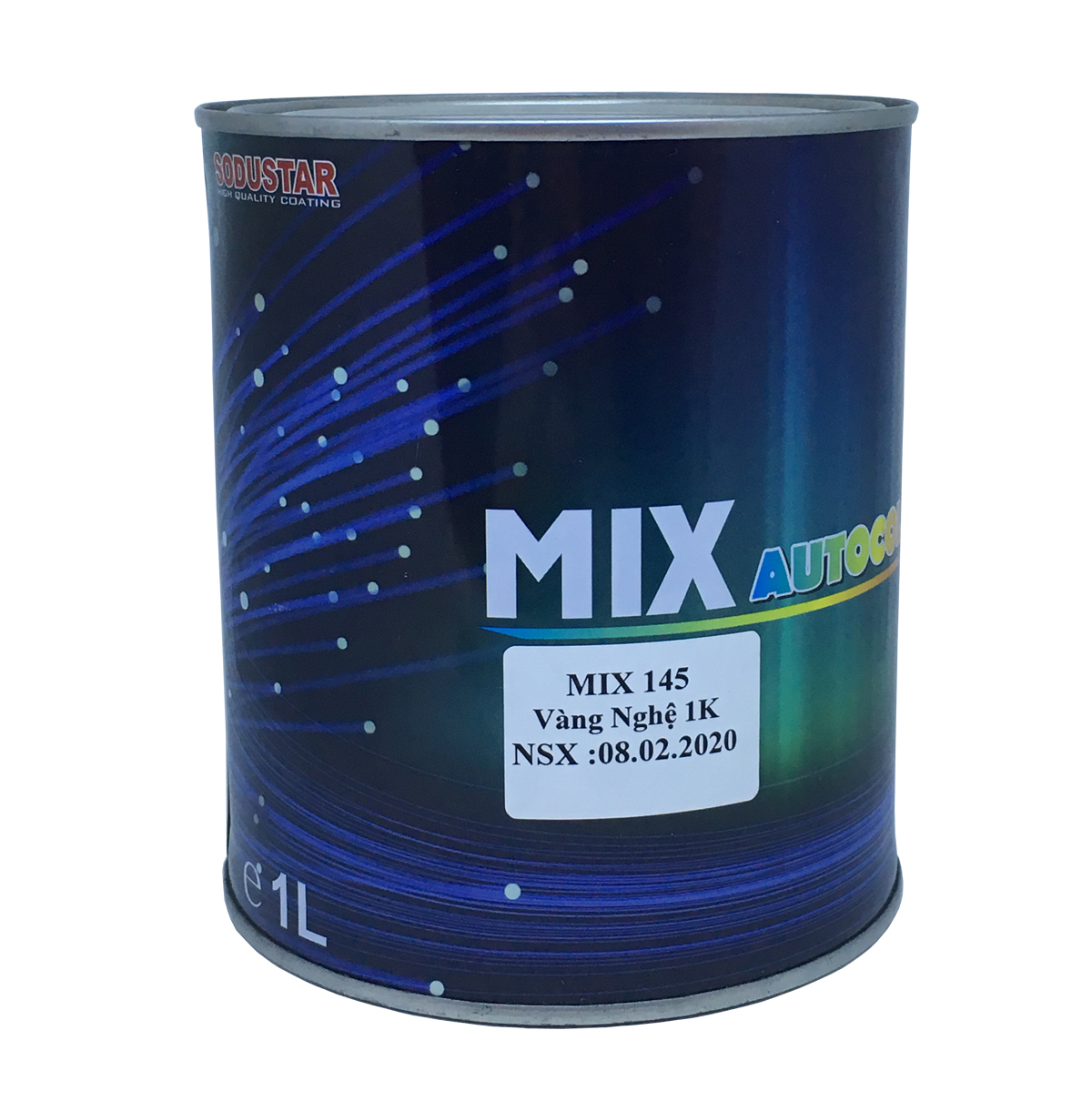 Sơn màu Vàng Nghệ 1 thành phần (1K) - MIX 145