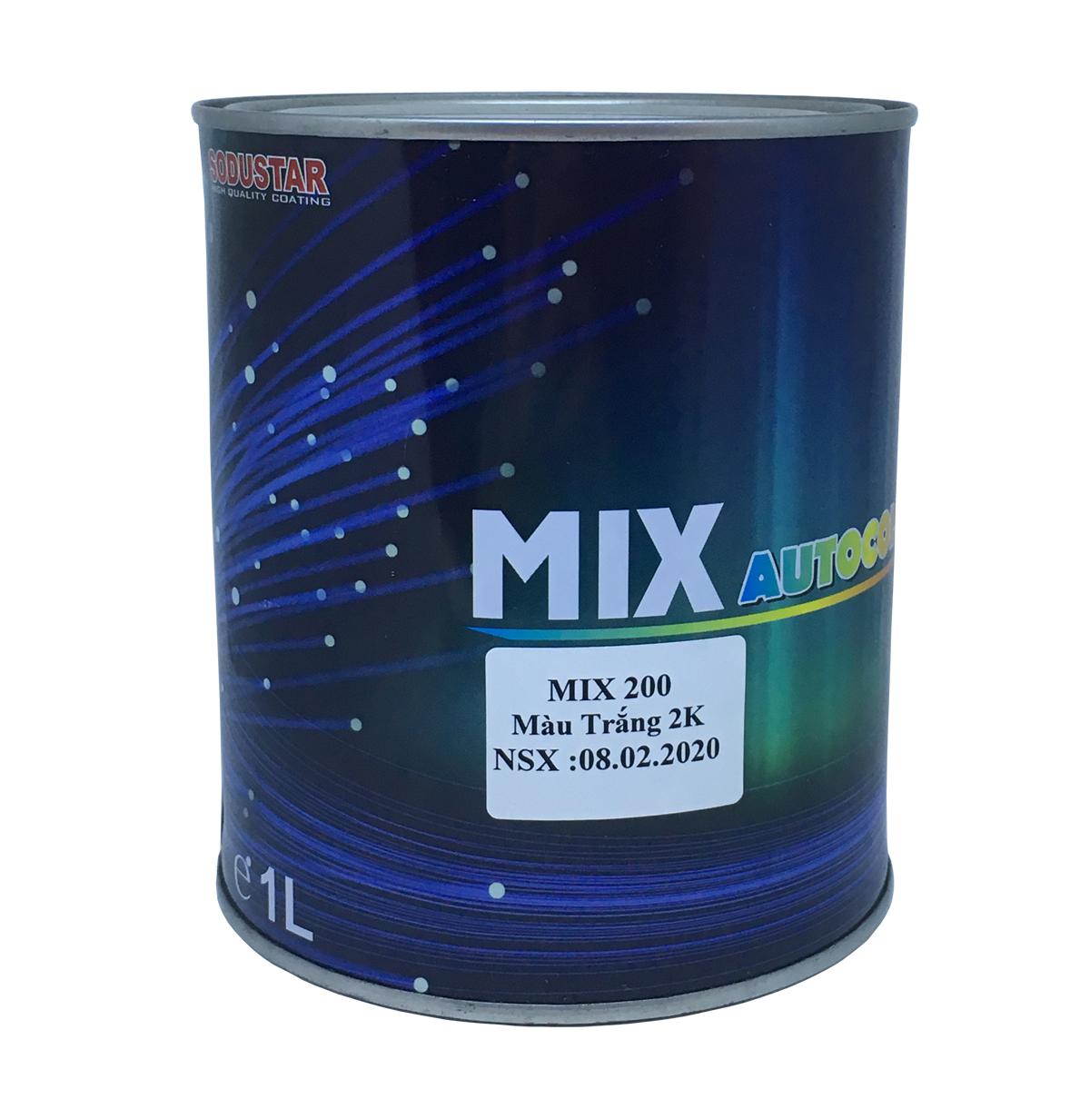 Sơn màu Trắng  2 thành phần (2K) - MIX 200