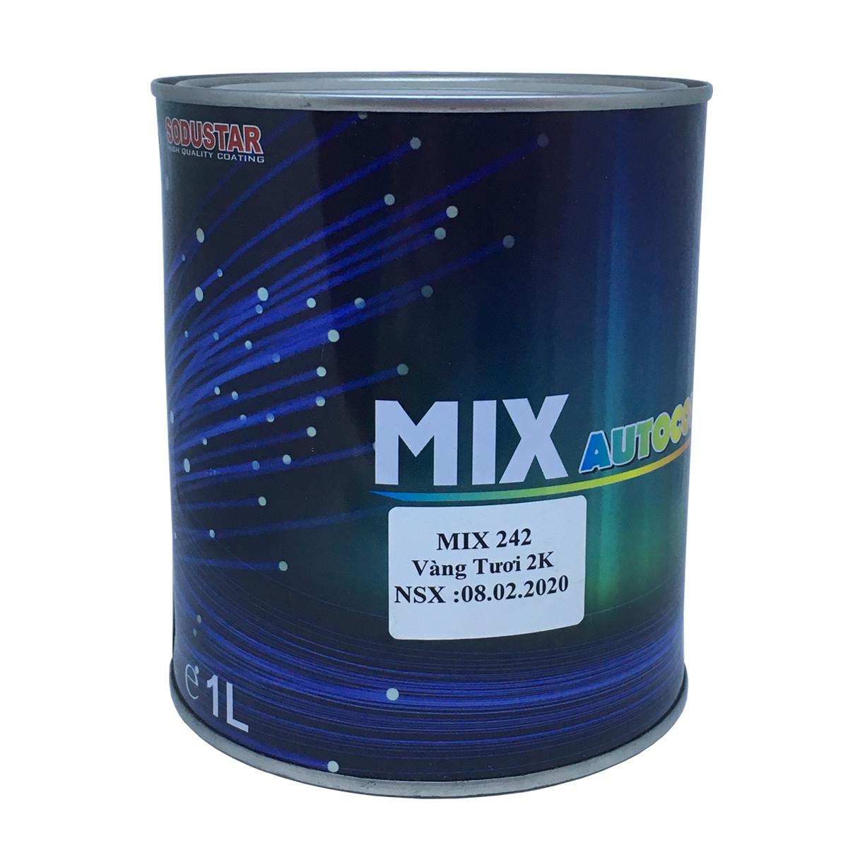 Sơn màu Vàng Tươi 2 thành phần (2K) - MIX 242