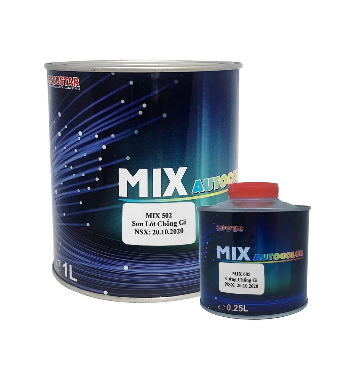 CẶP SƠN LÓT CHỐNG GỈ 2 THÀNH PHẦN (2K) - MIX 502/MIX 605